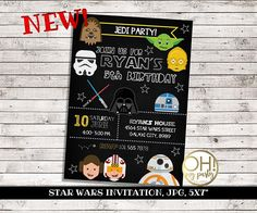 Free Star Wars Birthday Invitation Templates ~ Star wars invitation star wars invite star wars birthday star