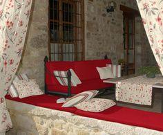 "Material draperie ""Serenity Rojo C"" - Ţesături Sophia - Stil Cottage - Perdele si draperii | Retro Boutique"