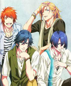 Uta no Prince Sama, Otoya, Ren, Tokiya, and Masato