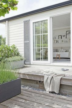 White Exterior | Grey Shutters