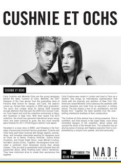 Watch Cushnie et Ochs LIVE on September 7th at 3PM ET! Follow us for live video of the show and exclusive photo and text updates.