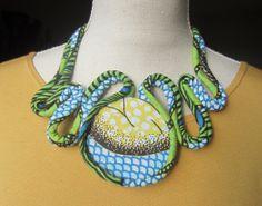 www.cewax.fr colliers en tissus africains, ethno tendance, tribal