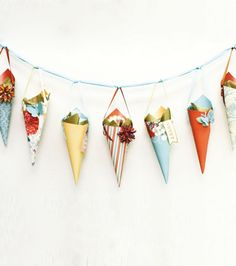 Coral Couture Cone Garland at Joann.com