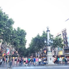 * LA RAMBLA * LA RAMBLA stretches for 1.2 kilometres (0.75 mi) connecting #PlaçadeCatalunya in the centre with the Christopher Columbus Monument at #PortVell. La Rambla forms the boundary between the quarters of #BarriGòtic, to the east, and #ElRaval, to the west. The course of La Rambla was originally a sewagefilled streambed, usually dry but an important drain for the heavy rainwater flowing from the #Collserola hills during spring and autumn.  It separated the walled city on its northeast…