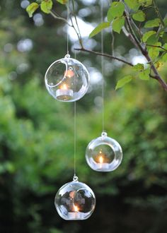 These elegant bauble tea light holders will add a tranquil atmosphere wherever they're used