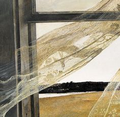 Andrew Wyeth - Wind from the Sea. 1947 (detail)