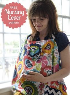 Free Nursing Cover Pattern with Pocket for New Moms