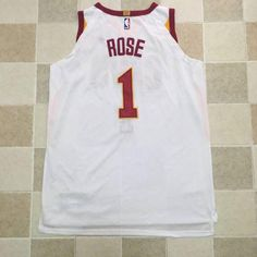 366e4483b Men 1 Derrick Rose Jersey White Cleveland Cavaliers Jersey Player Special