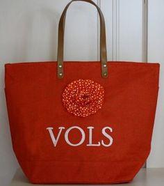 Nest of Posies Tennessee VOLS UT game day jute bag. Go VOLS! $26.00