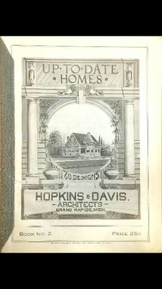 Cover of one of hopkins' plan books/ located at grpl