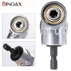 "Binoax 105 Degrees 1/4"" Electric Hex Drill Bit Adjustable Hex Bit Angle Driver Screwdriver Socket Holder Adaptor tools #P00038#"