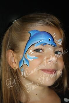 Dolphin Girls Face Painting by Let's Bounce Inflatables www.letsbounceinflatables.ca