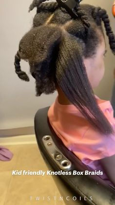Feed In Braids Hairstyles, Lil Girl Hairstyles, Black Kids Hairstyles, Black Girl Braided Hairstyles, Natural Hairstyles For Kids, Fairy Hairstyles, Hairstyles For African Hair, African American Girl Hairstyles, Natural Braided Hairstyles