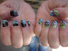 Angry Bird fingernails