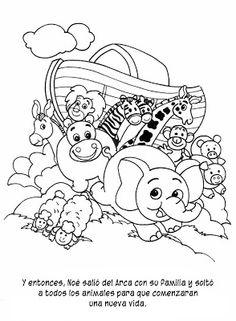 Historia del Arca de Noé colorear