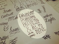 Sean Wes- Hand Lettering Tutorial. Great link to more process tips at the bottom of this page!