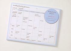 $17 Family Planner Pad - magnetic back | by momAgenda