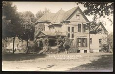 A photo of our house, probably taken in the 1930s.  Used by Persephone Books to advertise a book set in Michigan.