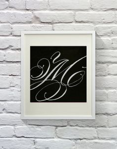 Lovely 'M' - Calligraphy