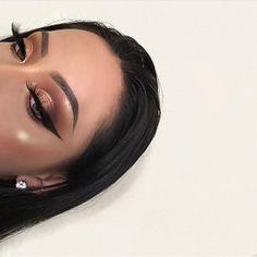Glam Makeup Look, Cute Makeup, Gorgeous Makeup, Pretty Makeup, Makeup Looks, Eyeshadow Looks, Eyeshadow Makeup, Drugstore Makeup, Makeup Brushes