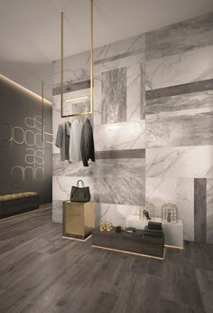 Wall/floor tiles with marble effect SUPREME by Flaviker Contemporary Eco Ceramics – Home Decor Ideas – Interior design tips Retail Interior Design, Retail Store Design, Interior Shop, Retail Stores, Commercial Design, Commercial Interiors, Interior Walls, Interior And Exterior, Marble Interior
