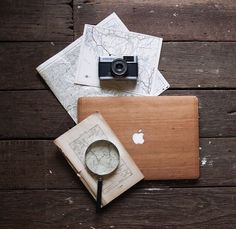 GLITTY - from America With love - wooden MacBook case - 69$
