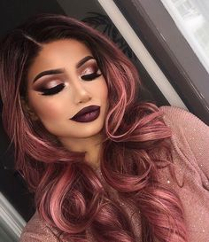 You can't get more flawless then this. Hair and makeup are so @makeupbyalinna used our gel liner in slate and 9B blush palette. We are crazy about this look #MorpheBabe