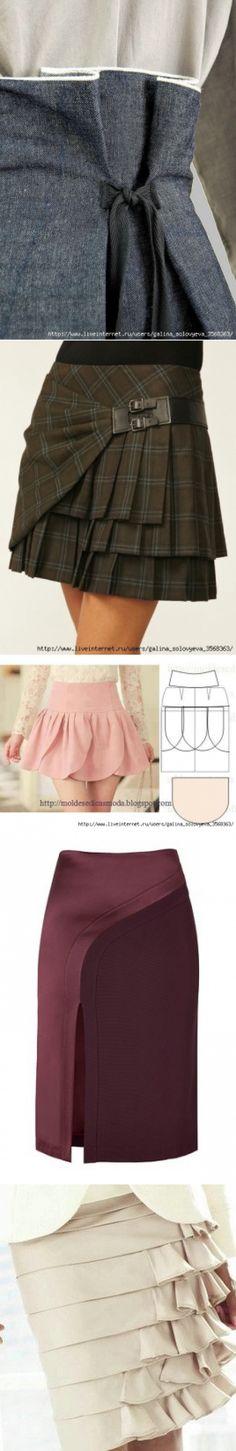 No tesouro da costureira: modelagem de saias.