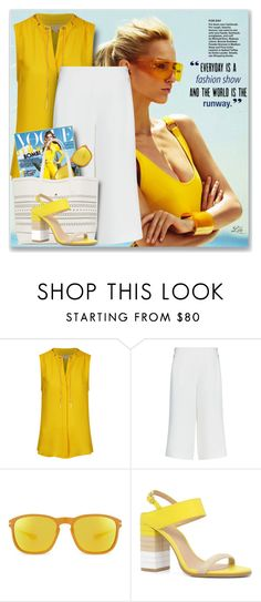 """They are back: Chic Culottes"" by breathing-style ❤ liked on Polyvore featuring Jaeger, Oakley and ALDO"