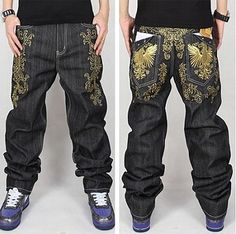 537868fff3a6 Hip Hop Jeans Men 2016 New Fashion Black Jeans Baggy Loose Fit Hiphop  Skateboarder Jeans Homme Robin Jeans Mens Dsq