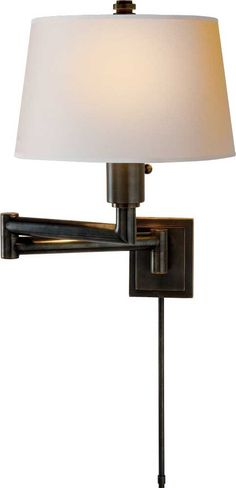 Chunky swing arm lamp - CIRCA -Either side of Family Room Window Seat AND master bedroom window seat