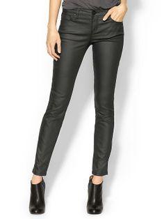 Sanctuary coated skinny jeans $99.00