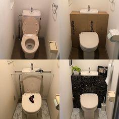 Diy Home Decor Easy, Diy Home Crafts, Diy Room Decor, Diy Cardboard Furniture, Diy Furniture Projects, Small Toilet Room, Small Bathroom, Ideas Baños, Rustic Home Offices