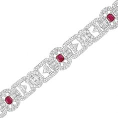 Platinum, Ruby and Diamond Bracelet for Sale at Auction on Thu, 12/12/2013 - 07:00 - Important Jewelry | Doyle Auction House