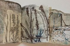 magpie of the mind-cas holmes: Making your Mark Cas Holmes, Fine Art Textiles, Concertina Book, Felt Wall Hanging, Free Motion Embroidery, Stitch Book, A Level Art, Small Art, Handmade Books