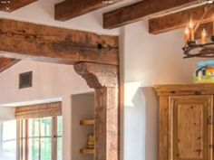 reclaimed wood beam diy with new wood the rustic hand hewn beams and corbel design andrew wright keeping room elements oversized firplace wood floors . Faux Ceiling Beams, Faux Wood Beams, Wood Ceilings, Wood Trim, Ceiling Decor, Ceiling Design, Ceiling Ideas, Ceiling Lighting, Ceiling Fans