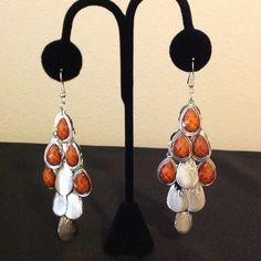 Olive Green Chandelier Earrings NWT olive green chandelier ...