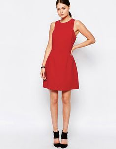 Image 4 ofNew Look Fit and Flare Tailored Dress