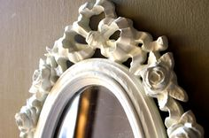 Vintage Syroco Shabby White Roses Wall Mirror on Etsy, Sold