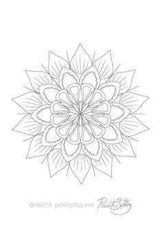Blank Mandala to Color