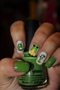 the grinch nail design | examples: the grinch, elf, frosty the snowman, rudolph the red nosed ...