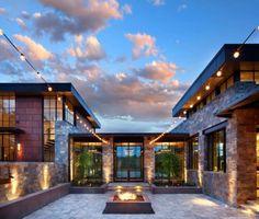 architecture Remote Colorado mountain home blends modern and comfortable Architecture Design, Modern Architecture House, Modern House Design, Architecture Career, Futuristic Architecture, Sustainable Architecture, Deck Design, Modern Buildings, Residential Architecture