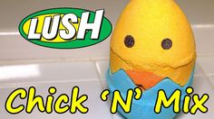 LUSH - CHICK 'N' MIX Bath Bomb EASTER 2017 DEMO - Underwater - REVIEW - ...