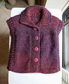Pattern leaflet, Sweater, Gilet & Jacket, includes three tops: sleeveless vest cardigan, long sleeved cardigan and long sleeved jumper (pullover). Knitting For Kids, Baby Knitting Patterns, Knit Or Crochet, Crochet Baby, Knit Vest Pattern, Top Pattern, Free Pattern, Baby Cardigan, Baby Vest