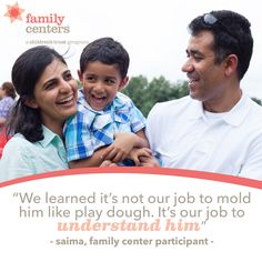 Incredible wisdom from a parent at one of our #FamilyCenters.