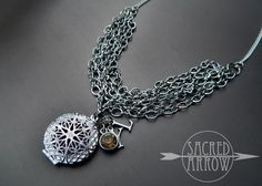 """Sacred Arrow Diffuser Jewelry   Home > Products > 18"""" Silver Young Living Diffuser Necklace"""