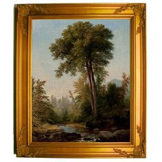 Historic Art Gallery 'A Natural Monarch 1853' by Asher B. Durand Framed Painting Print