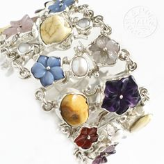 Grantchester Meadows II | Silver Bracelet With Amber, Pearls, Gemstones