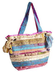 Our Repurposed Sari Tote is a colorful and exotic gift. I so want this!
