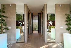 White Clear Lined Interior of Russian Villa elegant lux